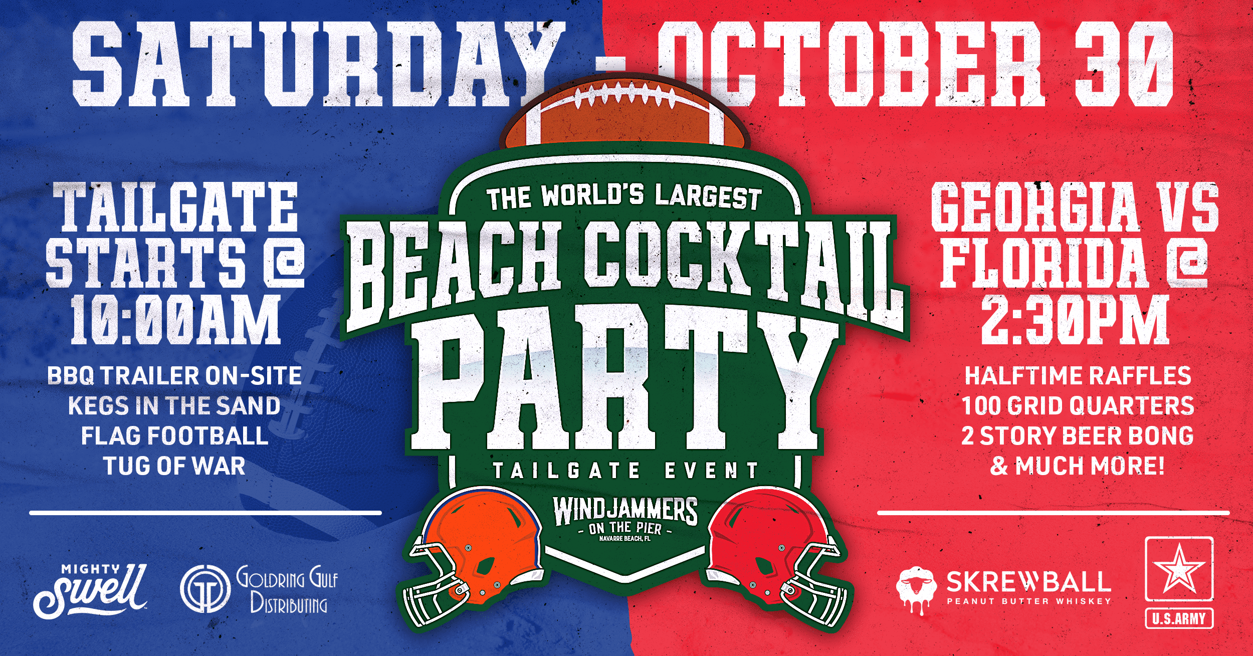 The World's Largest BEACH Cocktail Party: UGA vs UF